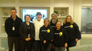 Left to Right: Michael Preston, National Church Residences, Shawn Dowling, VA Homeless Program, Ken Leslie, Founder, Veterans Matter, and 1Matters team members Norma Leslie, Mike Clark, Shawn Clark, and Leryc Barber.