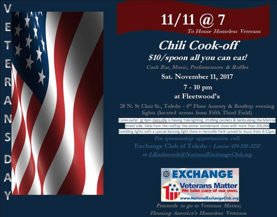 Exchange Club of Toledo's 11/11@7 Poster
