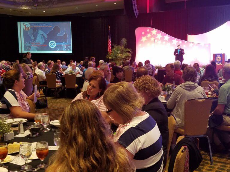 Ken Leslie speaking at the One Nation Under God luncheon.