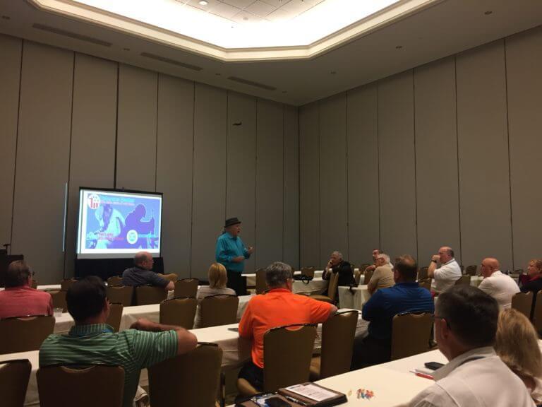 Ken Leslie presenting the Veterans Matter 101 Class.