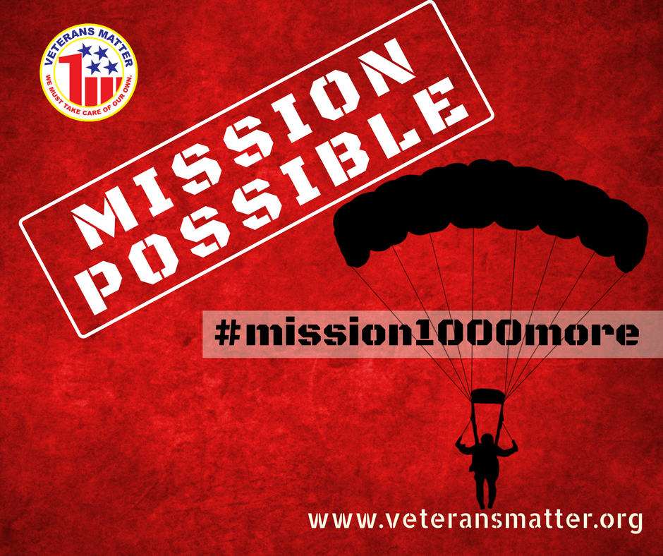 Veterans Matter | #mission1000more