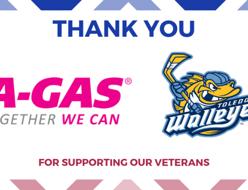 Thank you A-Gas and Toledo Walleye
