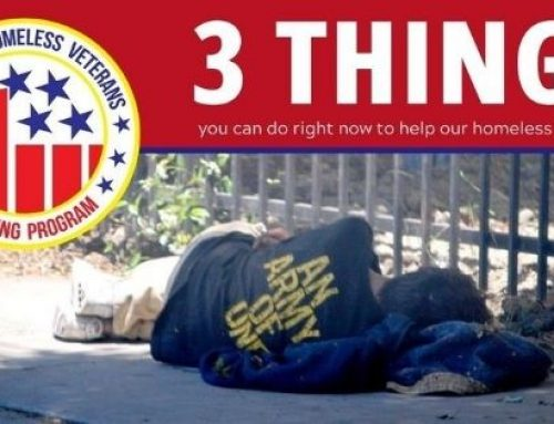 3 Things you can do right now to help our homeless Veterans