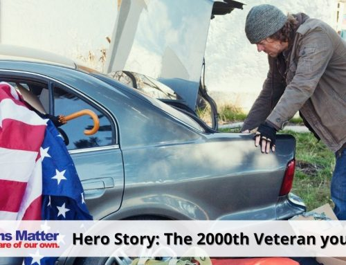 The 2000th Veteran you housed – March 2018