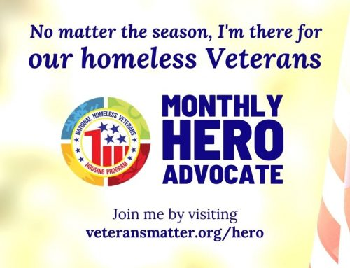 No matter the season, I'm there for our homeless Veterans