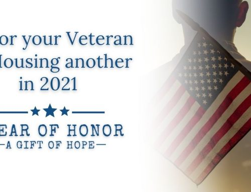 Honor Your Veteran by Housing Another in 2021!